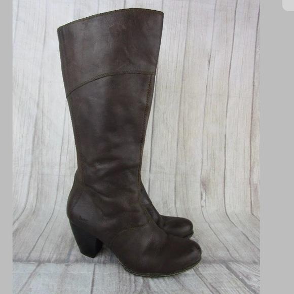 13c59120b85 New Born BOC Brown Knee High Boots Heel Zipper 11